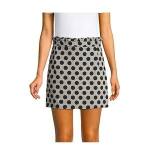 TOPSHOP Spot Stripe Jacquard Mini Skirt Ruffle 8